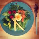 【北欧ダイエット:1日目】ノルウェーサーモンサラダ